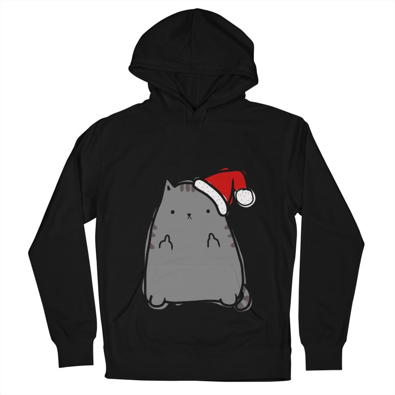Christmas Kitty Women's French Terry Pullover Hoody by oneweirddude's Artist Shop