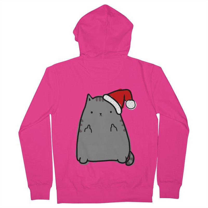 Christmas Kitty Men's Zip-Up Hoody by oneweirddude's Artist Shop