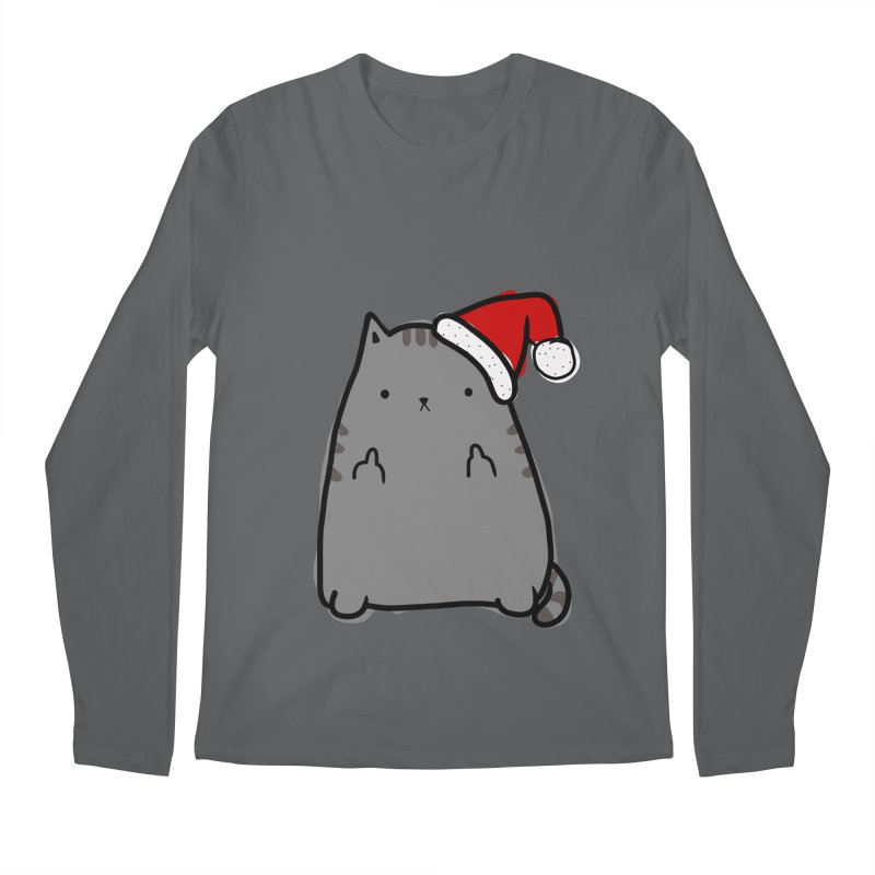 Christmas Kitty Men's Longsleeve T-Shirt by oneweirddude's Artist Shop