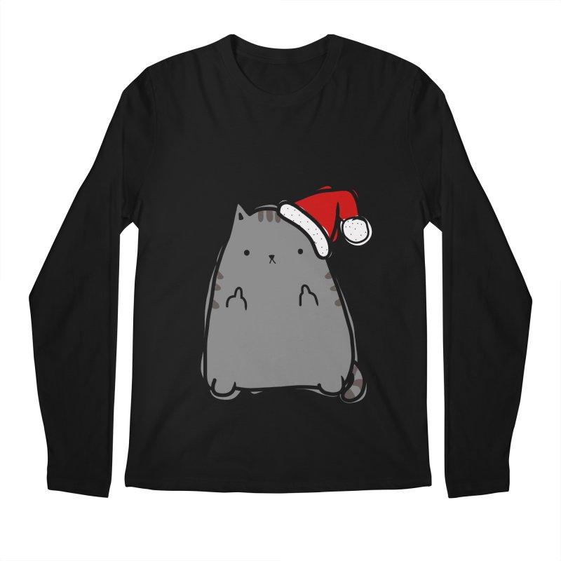 Christmas Kitty Men's Longsleeve T-Shirt by oneweirddude's Artist Shop