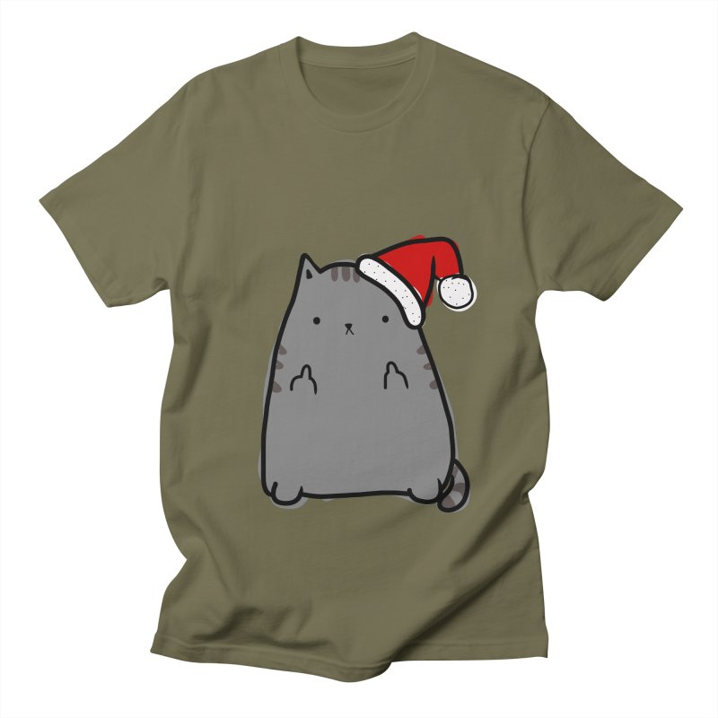 Christmas Kitty Men's T-shirt by oneweirddude's Artist Shop