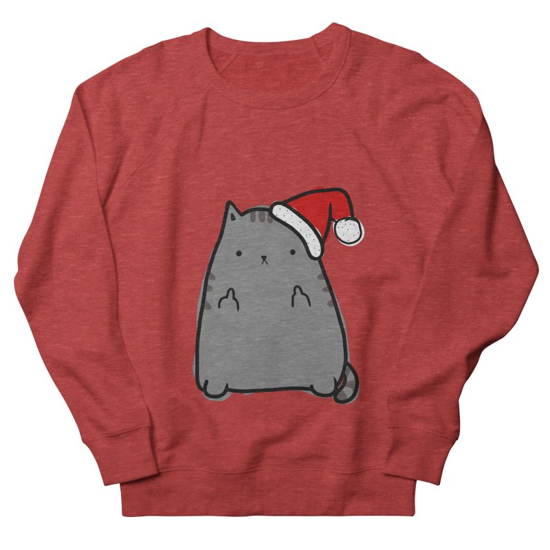 Christmas Kitty Men's French Terry Sweatshirt by oneweirddude's Artist Shop