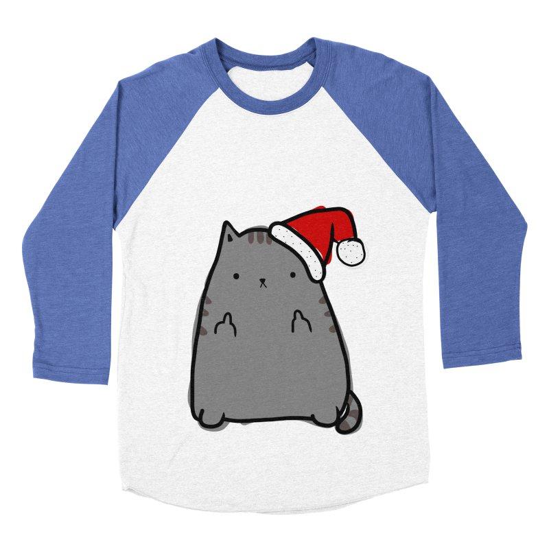 Christmas Kitty Women's Baseball Triblend T-Shirt by oneweirddude's Artist Shop