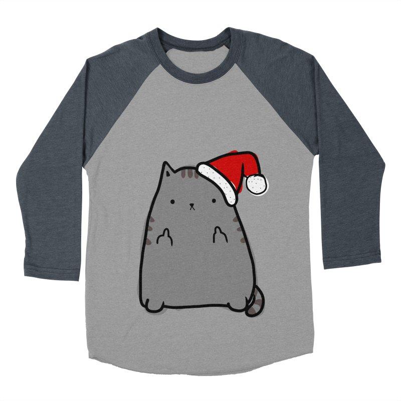 Christmas Kitty Men's Baseball Triblend T-Shirt by oneweirddude's Artist Shop