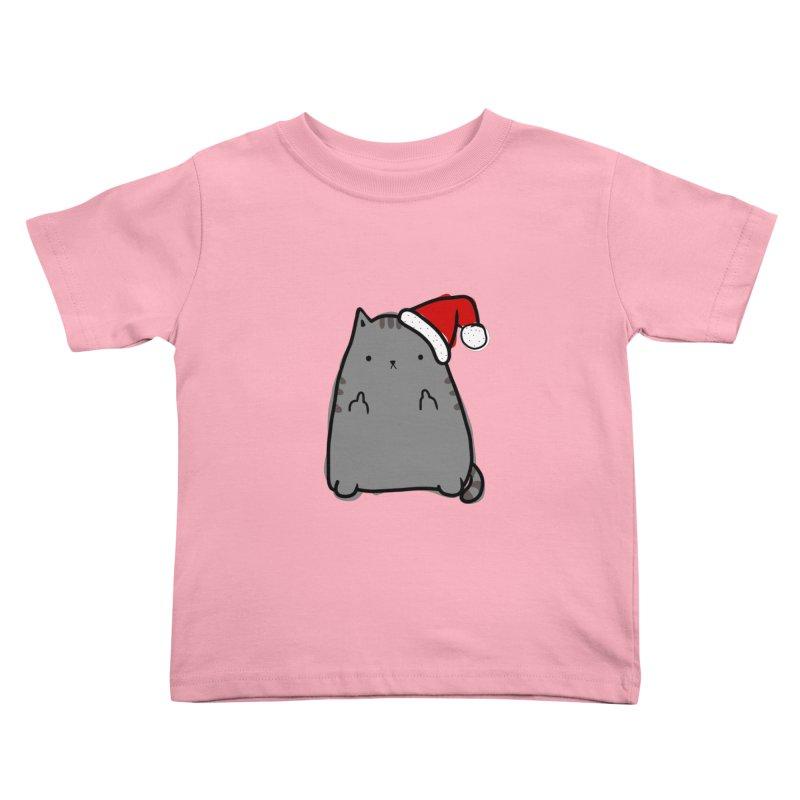Christmas Kitty Kids Toddler T-Shirt by oneweirddude's Artist Shop