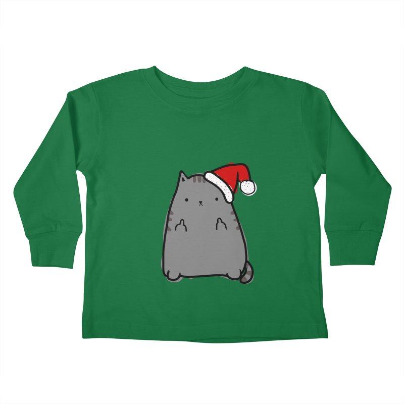 Christmas Kitty Kids Toddler Longsleeve T-Shirt by oneweirddude's Artist Shop