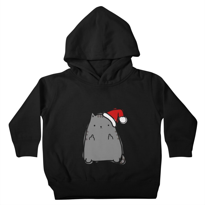 Christmas Kitty Kids Toddler Pullover Hoody by oneweirddude's Artist Shop