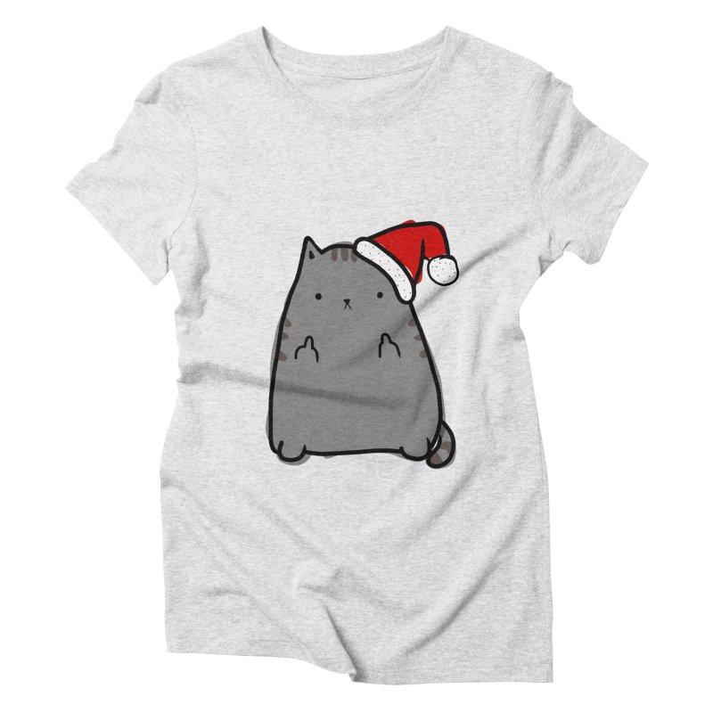 Christmas Kitty Women's Triblend T-Shirt by oneweirddude's Artist Shop