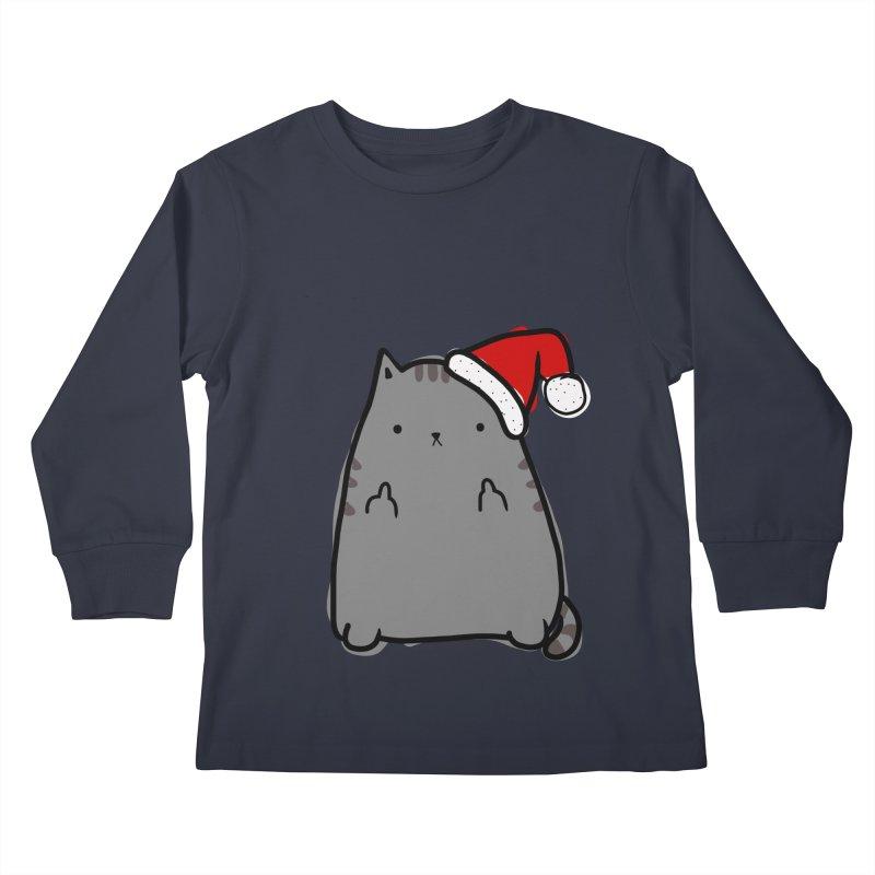 Christmas Kitty Kids Longsleeve T-Shirt by oneweirddude's Artist Shop