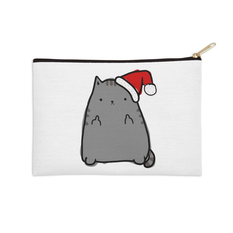 Christmas Kitty Accessories Zip Pouch by oneweirddude's Artist Shop
