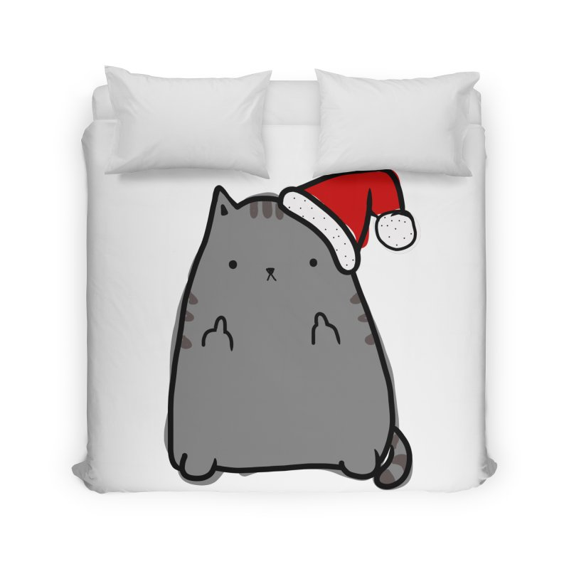 Christmas Kitty Home Duvet by oneweirddude's Artist Shop
