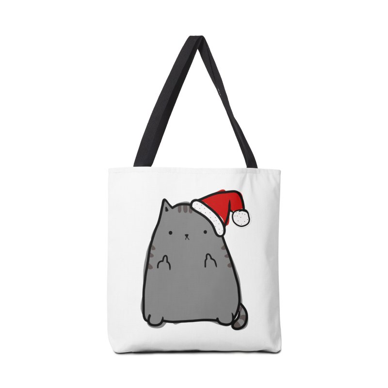 Christmas Kitty Accessories Tote Bag Bag by oneweirddude's Artist Shop