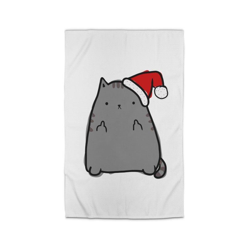 Christmas Kitty Home Rug by oneweirddude's Artist Shop