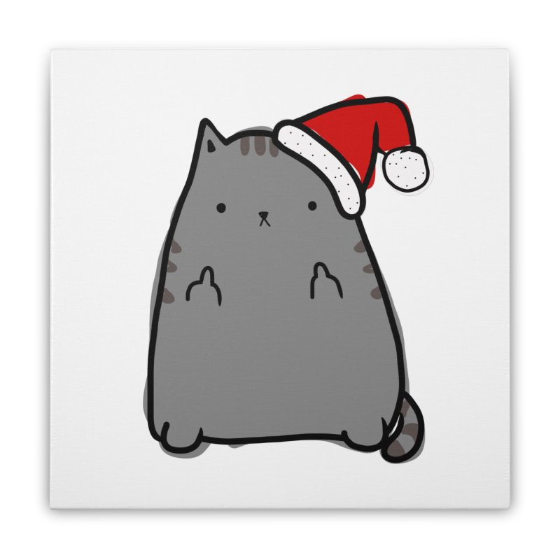 Christmas Kitty Home Stretched Canvas by oneweirddude's Artist Shop