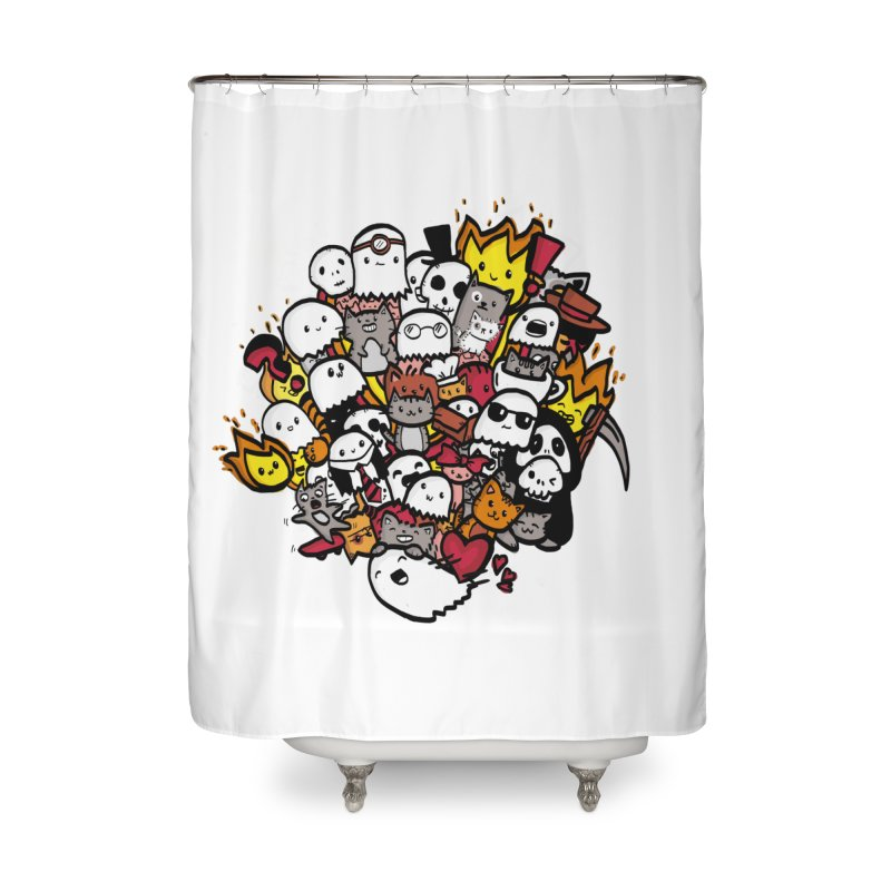 Cats and Friends Home Shower Curtain by oneweirddude's Artist Shop