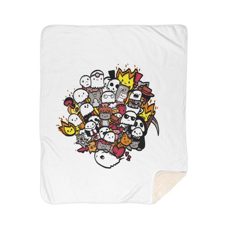 Cats and Friends Home Blanket by oneweirddude's Artist Shop