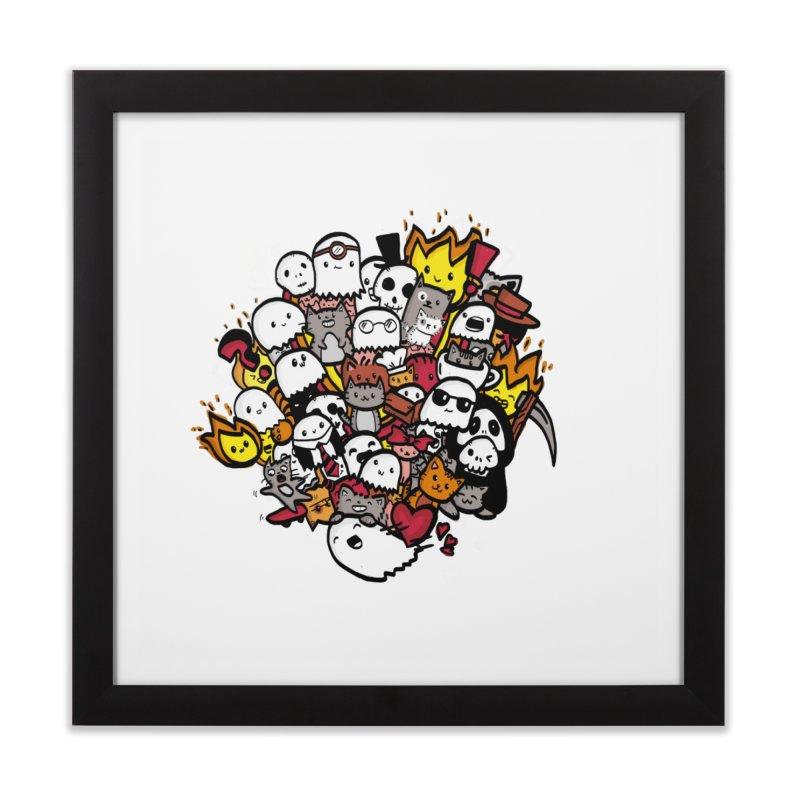 Cats and Friends Home Framed Fine Art Print by oneweirddude's Artist Shop