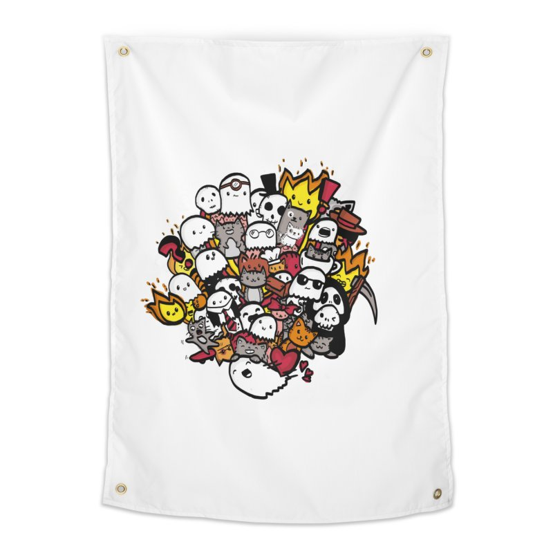 Cats and Friends Home Tapestry by oneweirddude's Artist Shop