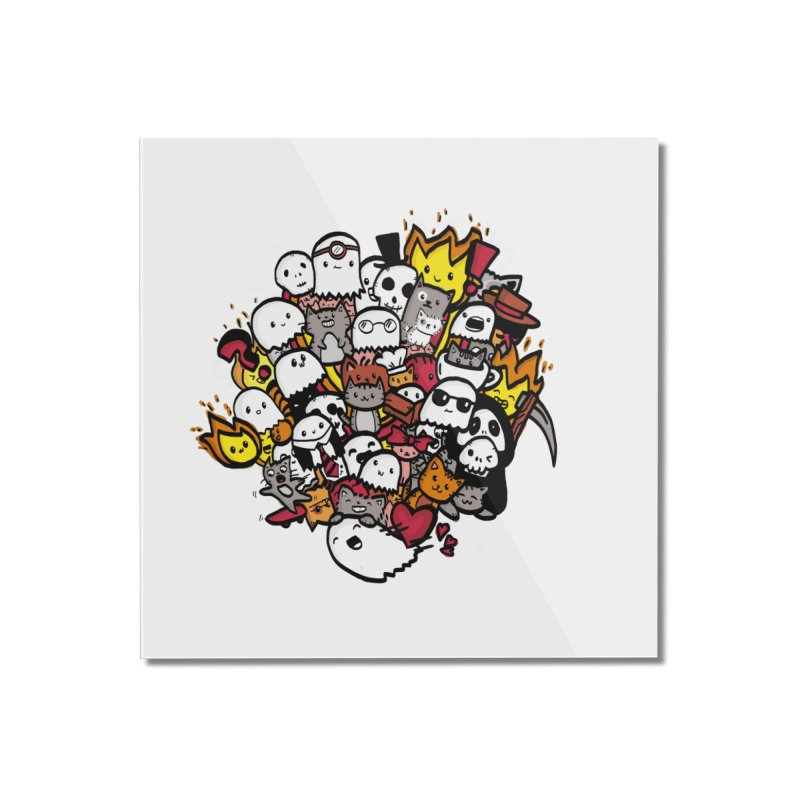 Cats and Friends Home Mounted Acrylic Print by oneweirddude's Artist Shop