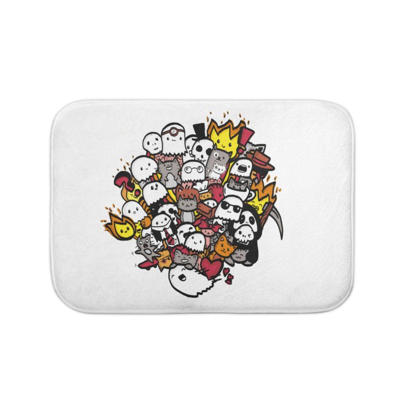 Cats and Friends Home Bath Mat by oneweirddude's Artist Shop