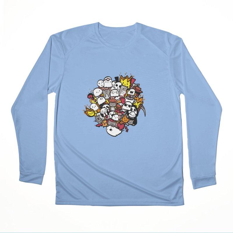 Cats and Friends Men's Longsleeve T-Shirt by oneweirddude's Artist Shop