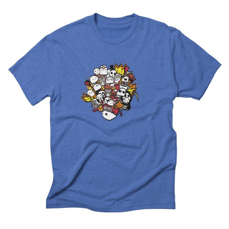 Cats and Friends Men's T-Shirt by oneweirddude's Artist Shop