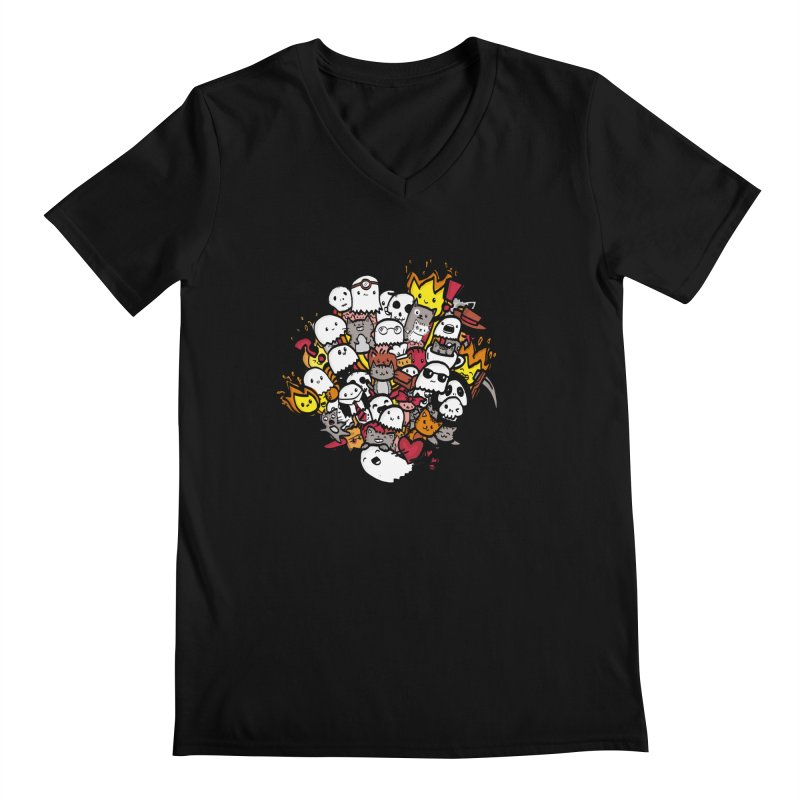 Cats and Friends Men's V-Neck by oneweirddude's Artist Shop
