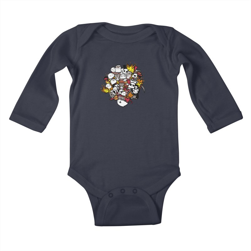 Cats and Friends Kids Baby Longsleeve Bodysuit by oneweirddude's Artist Shop