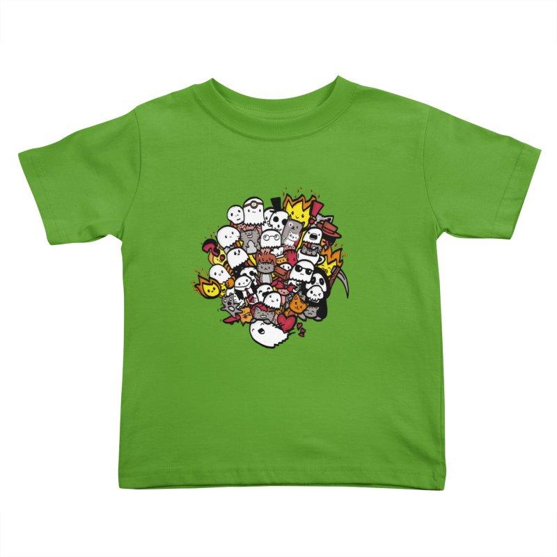 Cats and Friends Kids Toddler T-Shirt by oneweirddude's Artist Shop