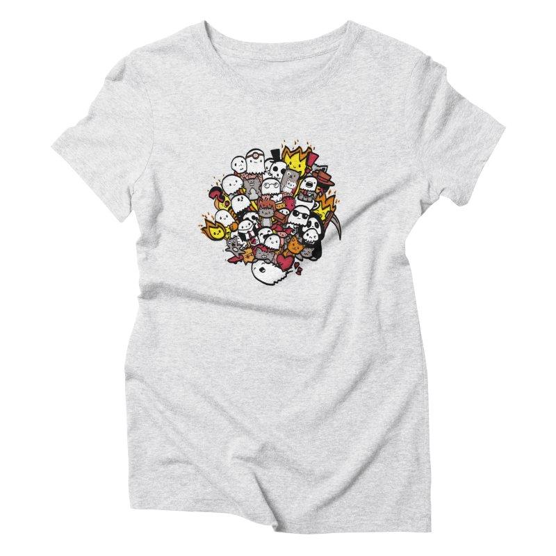 Cats and Friends Women's T-Shirt by oneweirddude's Artist Shop