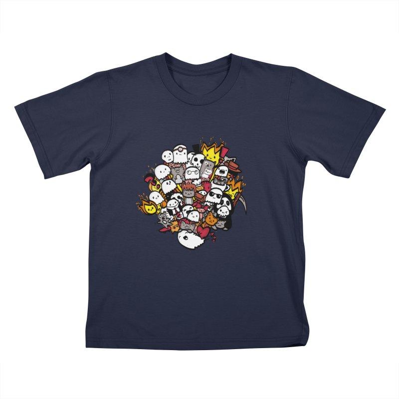 Cats and Friends Kids T-Shirt by oneweirddude's Artist Shop