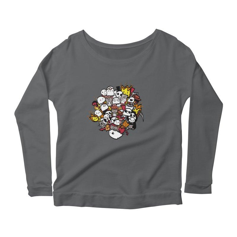 Cats and Friends Women's Longsleeve T-Shirt by oneweirddude's Artist Shop