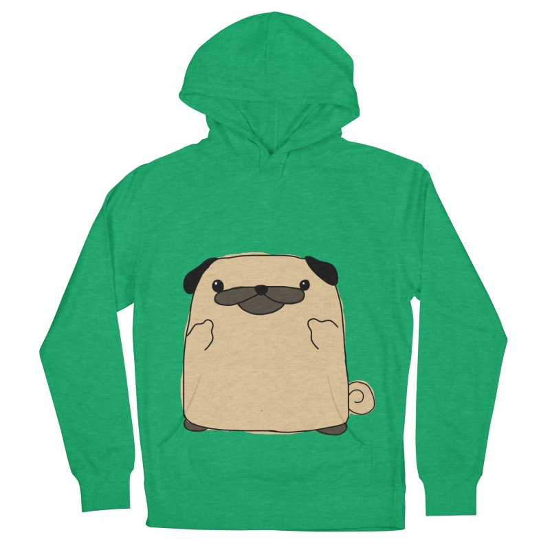Pug Double Bird Men's French Terry Pullover Hoody by oneweirddude's Artist Shop