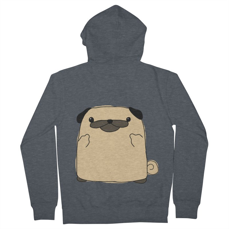 Pug Double Bird Women's Zip-Up Hoody by oneweirddude's Artist Shop