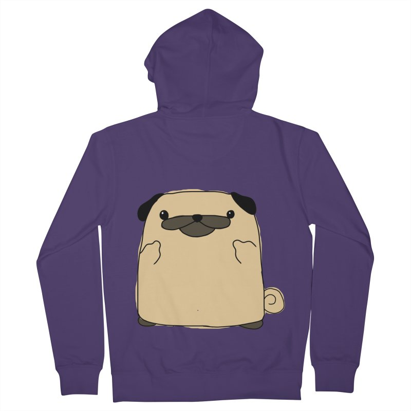 Pug Double Bird Women's French Terry Zip-Up Hoody by oneweirddude's Artist Shop