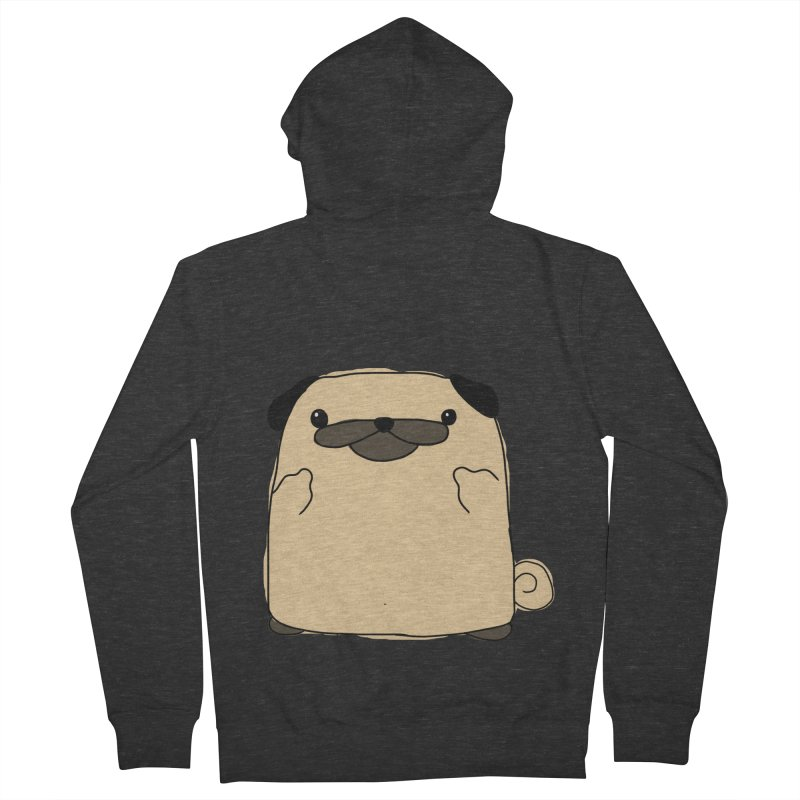 Pug Double Bird Men's French Terry Zip-Up Hoody by oneweirddude's Artist Shop
