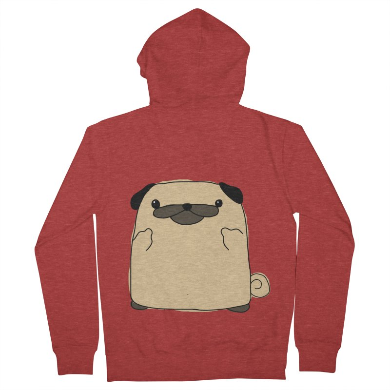 Pug Double Bird Men's Zip-Up Hoody by oneweirddude's Artist Shop