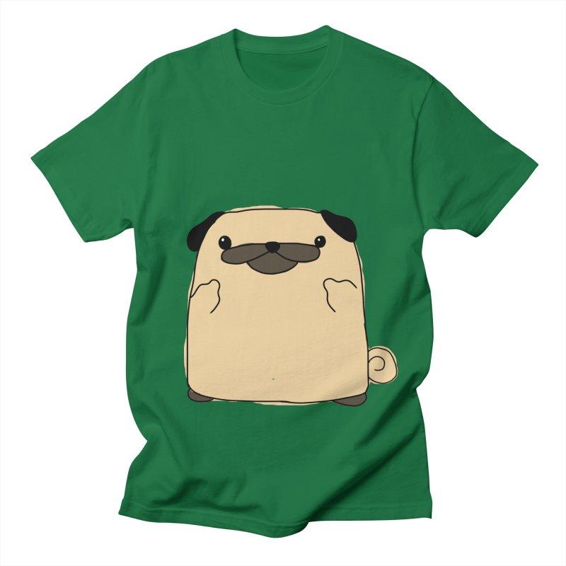 Pug Double Bird Men's T-Shirt by oneweirddude's Artist Shop