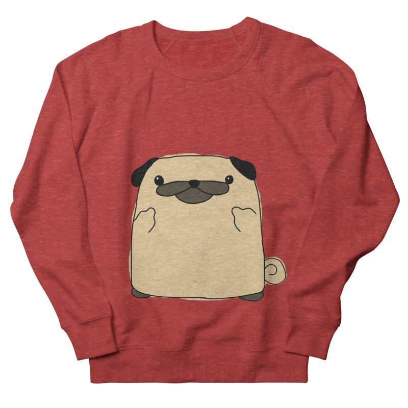 Pug Double Bird Women's French Terry Sweatshirt by oneweirddude's Artist Shop