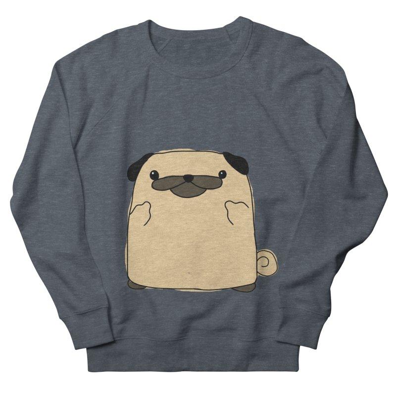 Pug Double Bird Men's French Terry Sweatshirt by oneweirddude's Artist Shop