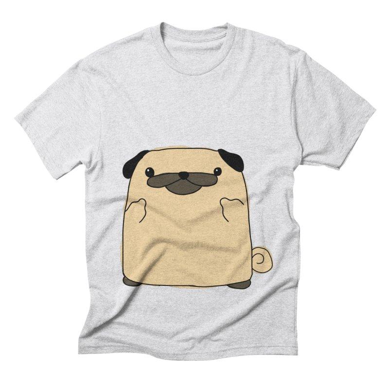 Pug Double Bird Men's Triblend T-Shirt by oneweirddude's Artist Shop