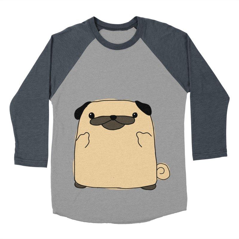 Pug Double Bird Women's Baseball Triblend T-Shirt by oneweirddude's Artist Shop
