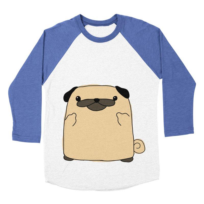Pug Double Bird Men's Baseball Triblend T-Shirt by oneweirddude's Artist Shop
