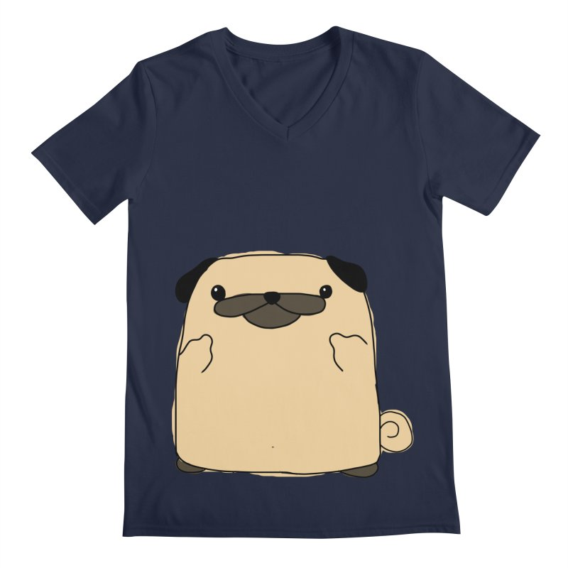 Pug Double Bird Men's V-Neck by oneweirddude's Artist Shop