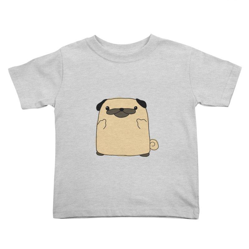 Pug Double Bird Kids Toddler T-Shirt by oneweirddude's Artist Shop