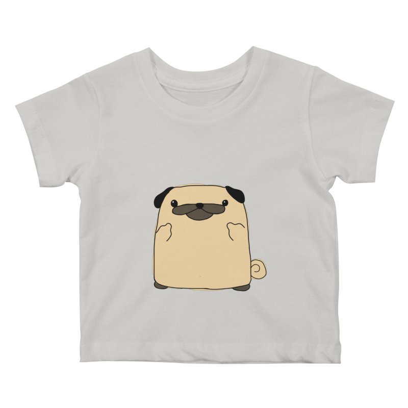 Pug Double Bird Kids Baby T-Shirt by oneweirddude's Artist Shop