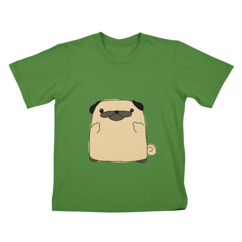 Pug Double Bird Kids T-Shirt by oneweirddude's Artist Shop