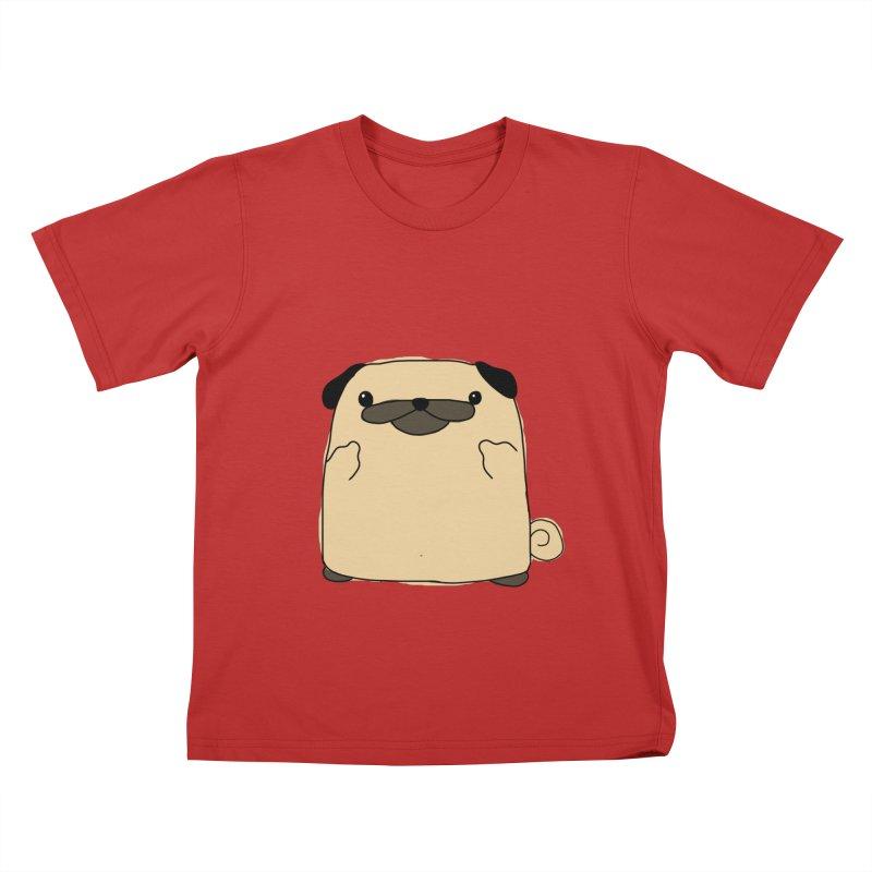 Pug Double Bird Kids T-Shirt by oneweirddude's Artist Shop
