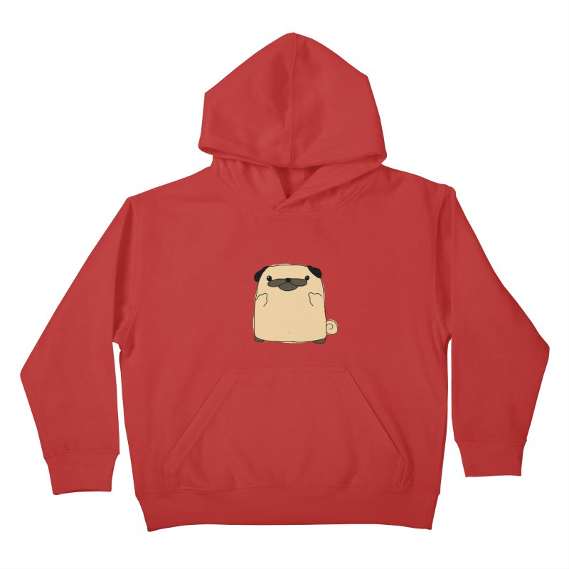 Pug Double Bird Kids Pullover Hoody by oneweirddude's Artist Shop