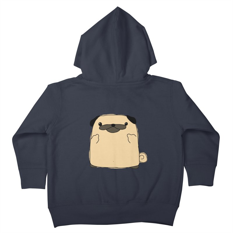 Pug Double Bird Kids Toddler Zip-Up Hoody by oneweirddude's Artist Shop